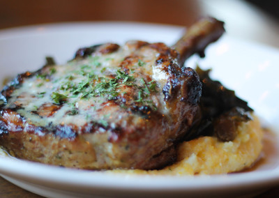 Lamb chop at Flatiron in Davidson